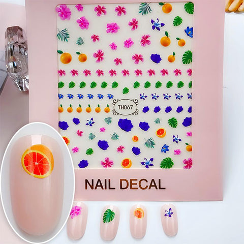 3D Laser Bronzing Nail Stickers TH067