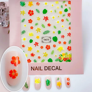 3D Laser Bronzing Nail Stickers TH075