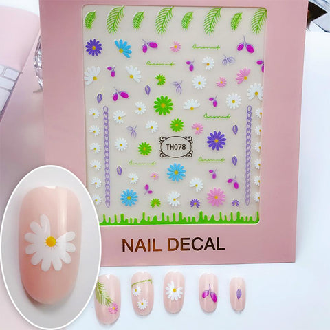 3D Laser Bronzing Nail Stickers TH078
