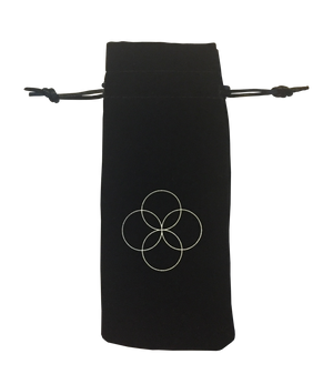 Gemstone beauty roller Amethist IN BLACK POUCH