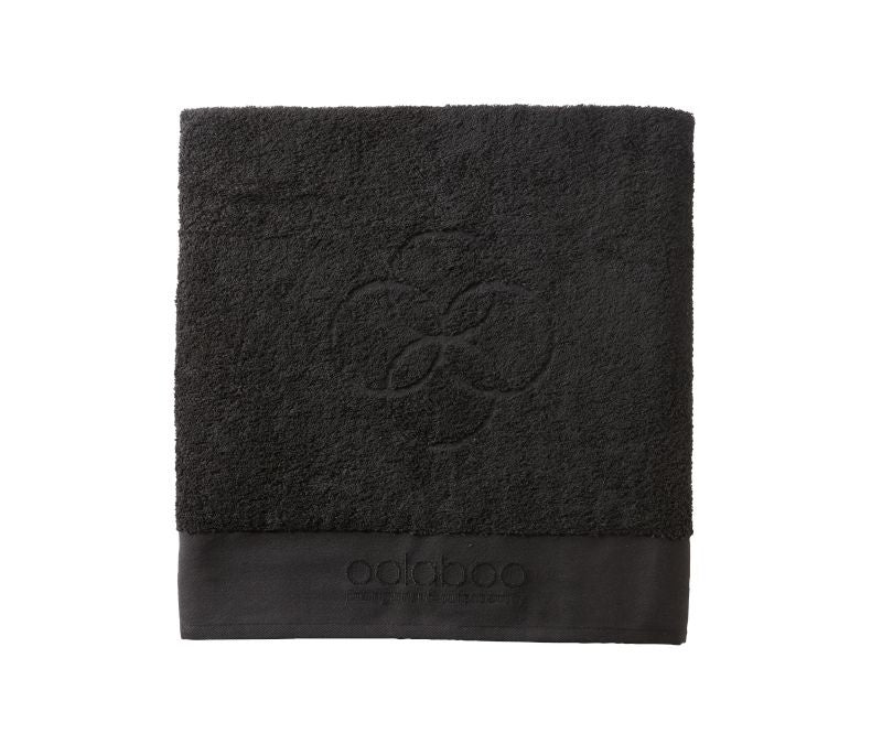Medium embracing towel black 570 gram 50x100 cm