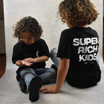SUPER RICH KIDS - T-Shirt Kids Black with white logo