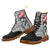 Punk Skull Grey Plaid Patterns Boots For Men - (Model ST-1203H)