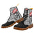Punk Skull Grey Plaid Patterns Boots For Women - (Model ST-1203H)