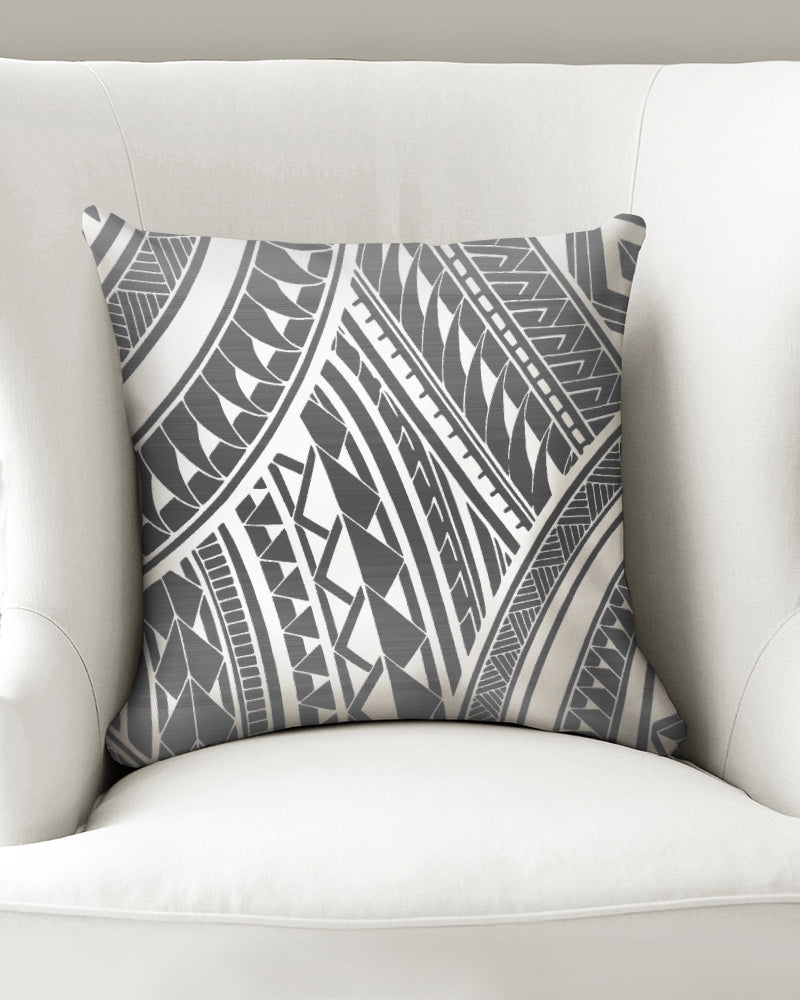 "Pe'a - Gray Throw Pillow Case 16""x16"""