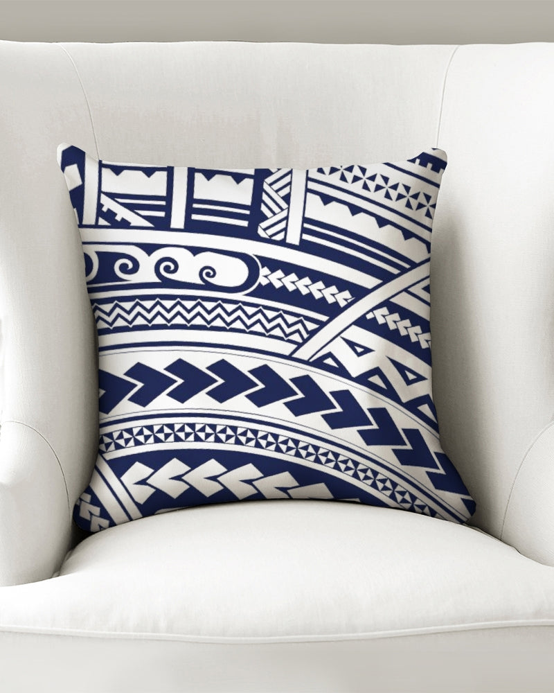 "Samoan Tattoo Blue Throw Pillow Case 16""x16"""