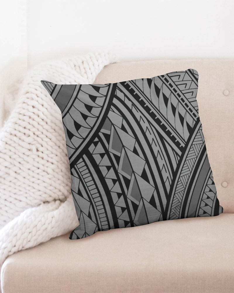 "Samoa - Gray/Black Throw Pillow Case 20""x20"""