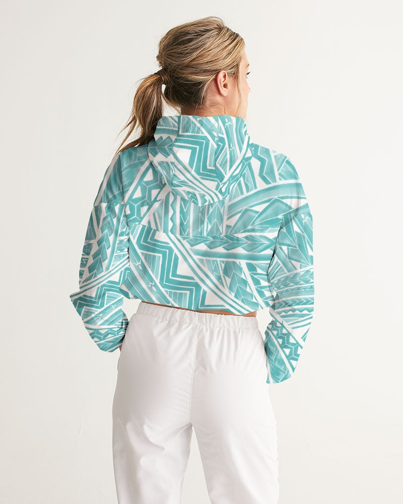 Polynesian Blue Women's Cropped Windbreaker
