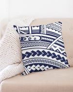 "Samoan Tattoo Blue Throw Pillow Case 20""x20"""