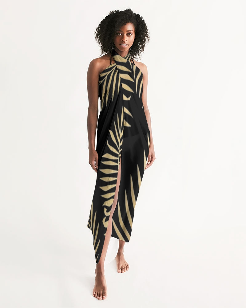 Palms Black/Gold Swim Cover Up