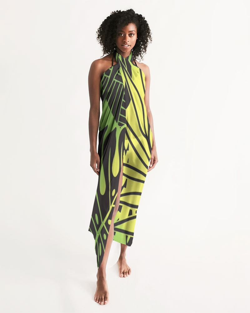 Monstera Green/Yellow Swim Cover Up