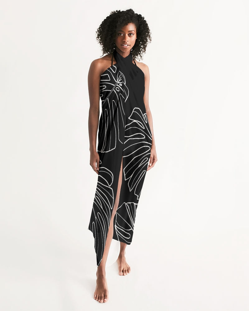 Monstera - Women's Black Swim Cover Up