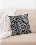 "Samoa - Gray/Black Throw Pillow Case 18""x18"""