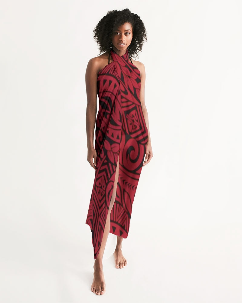 Polynesian Red Swim Cover Up