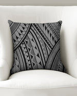 "Samoa - Gray/Black Throw Pillow Case 16""x16"""