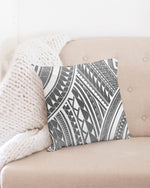 "Pe'a - Gray Throw Pillow Case 18""x18"""