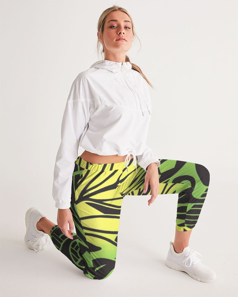 Monstera Green/Yellow Women's Track Pants