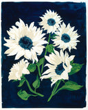 Sunflowers, Blue and White