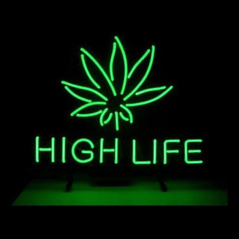 HIGH LIFE Neon Disco LED Sign.