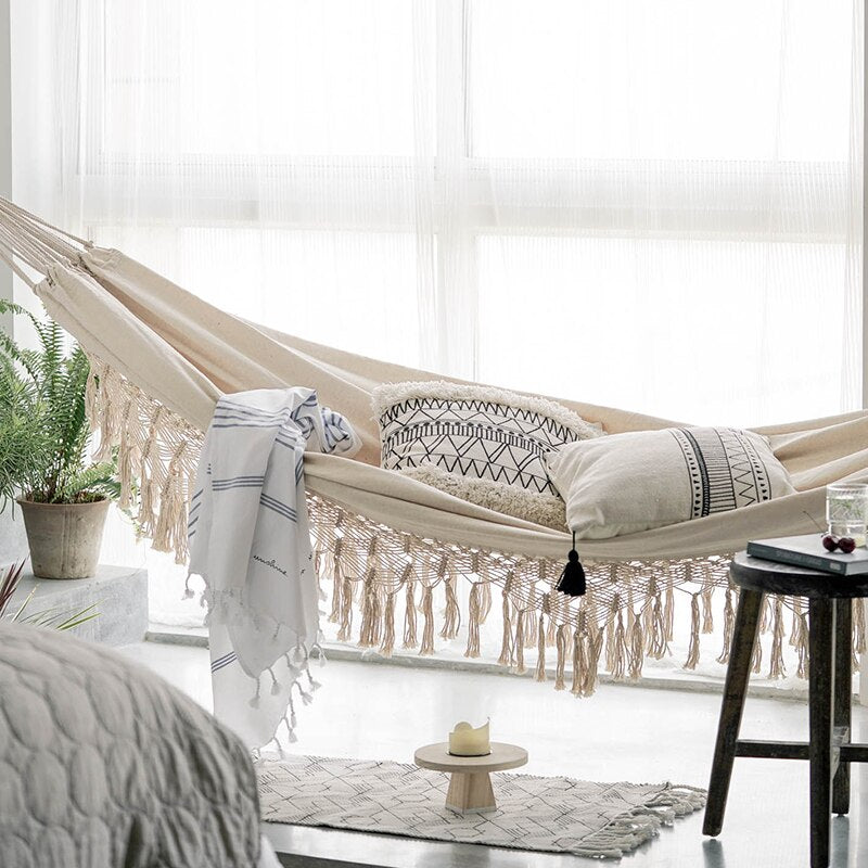 Swing Bed / Hammock in Recycled Sustainable Cotton.