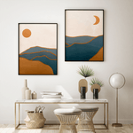 Load image into Gallery viewer, Unframed Abstract Wall Art.