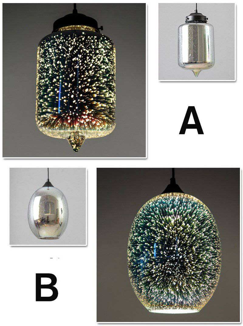 Eco-friendly Glass Stone Translucent Pendant.