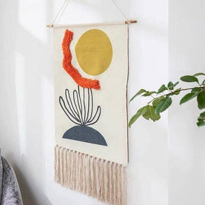 Handcrafted Textile Wall Art.