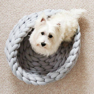 Hand-knitted Crochet Pet Bed.