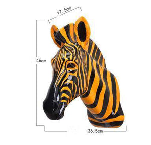 Handcrafted Resin Zebra Sculpture.