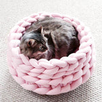 Load image into Gallery viewer, Hand-knitted Crochet Pet Bed.