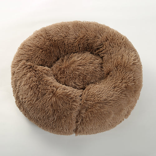 Brown Donut Dog Bed