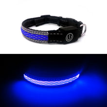 Load image into Gallery viewer, Blue LED Dog Collar for small dogs