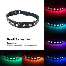 Load image into Gallery viewer, Paw print Dog Collar