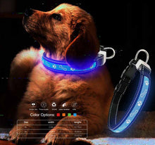 Load image into Gallery viewer, Lycra LED Dog Collar with print