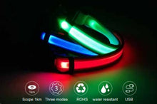 Load image into Gallery viewer, Three colours of LED Dog Collar