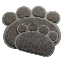 Load image into Gallery viewer, Grey Dog Paw Shaped Door Mat