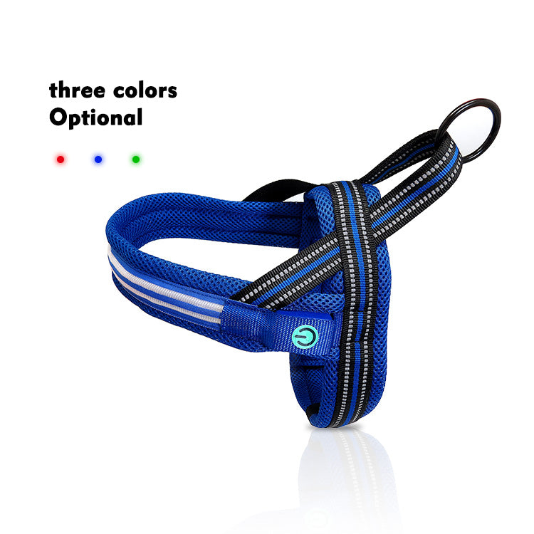 Blue LED Dog Harness
