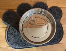 Load image into Gallery viewer, Grey Dog water bowl mat