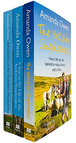 The Yorkshire Shepherdess Series 3 Books Collection Set by Amanda Owen (Yorkshire Shepherdess, Year in the Life of the Yorkshire Shepherdess & Adventures of the Yorkshire Shepherdess)