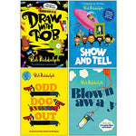 Rob Biddulph Collection 4 Books Set (Draw With Rob, Show and Tell, Odd Dog Out, Blown Away)