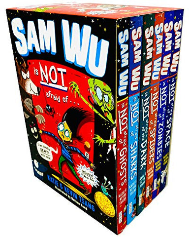 Sam Wu Is NOT Afraid Of Series 6 Books Collection Box Set by Katie & Kevin Tsang (Ghosts, Sharks, Dark, Spiders, Zombies & Space)