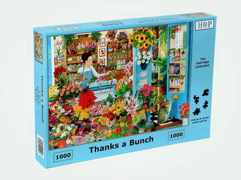 "The House of Puzzles 1000 Piece Jigsaw Puzzle - Thanks a Bunch - ""NEW SEPTEMBER 2020"""
