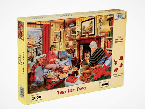 "The House of Puzzles 1000 Piece Jigsaw Puzzle - Tea for Two - ""NEW SEPTEMBER 2020"""