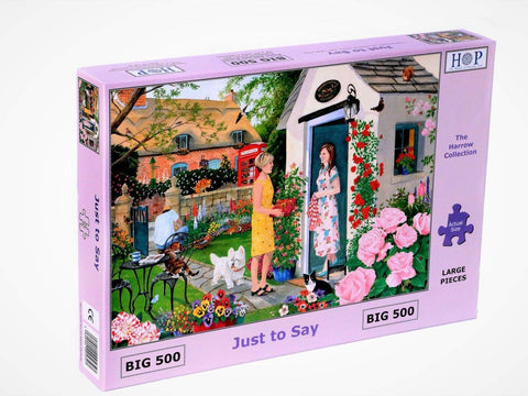"The House of Puzzles Big 500 Piece Jigsaw Puzzle - Just to Say - ""NEW SEPTEMBER 2020"""