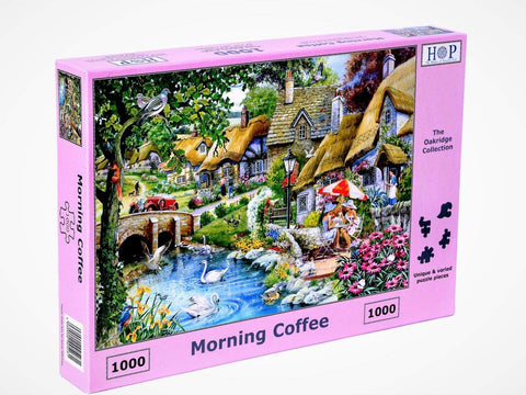 "The House of Puzzles 1000 Piece Jigsaw Puzzle - Morning Coffee - ""NEW SEPTEMBER 2020"""