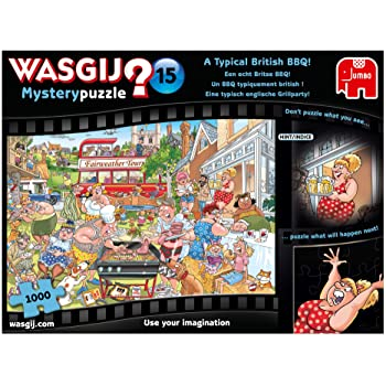 Jumbo 19163 Mystery 15 A Typical British BBQ Jigsaw Puzzle