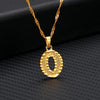 18k Gold Letter Ice Necklace