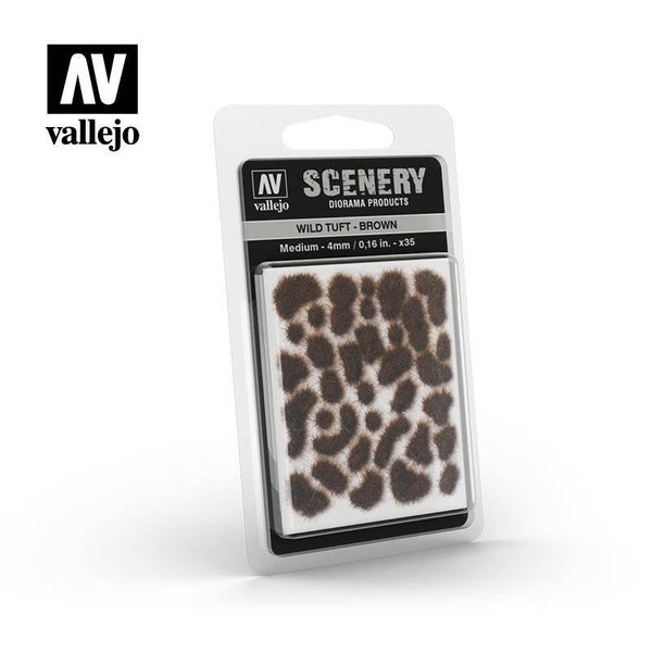 Vallejo Scenery SC411 4mm Wild Tuft - Brown - Gap Games