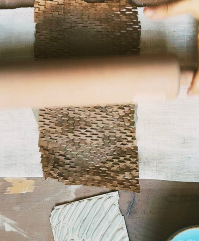 Rolling the textured object
