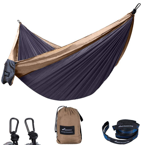 Black and brown Best Double Camping Hammock Tent